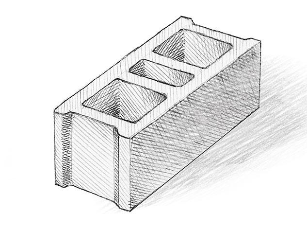 Бетоново блокче V1. Бетонови изделия Монтана