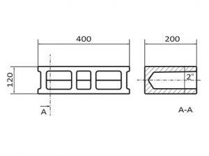 Бетоново блокче V2.  вибропресови бетонови изделия